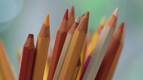 Colored pencils Footage