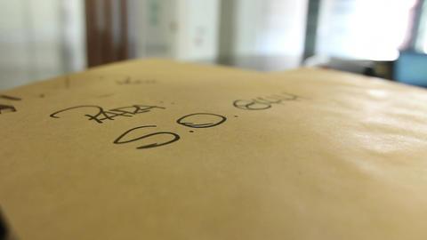 Envelopes on desk Footage