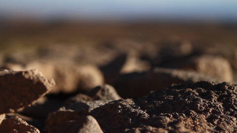 Desert stones Footage