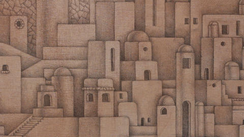 Middle Eastern city drawing Live Action