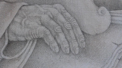 Human hand drawing Footage