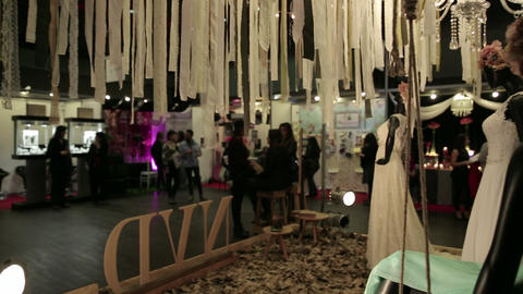 Expo fair with maniquin Footage