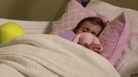 Girl sleeps Footage