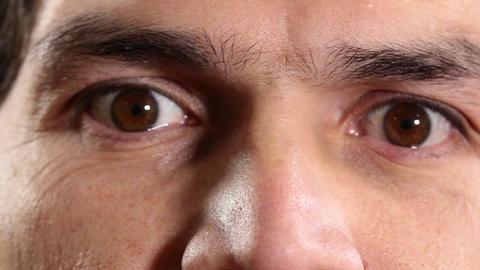Brown eyed man Footage