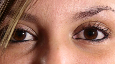 Light brown eyed woman Footage