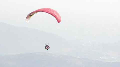 Person in parachute Footage