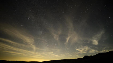 Milky Way with Clouds Live Action