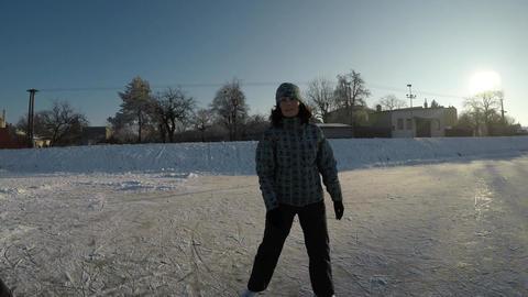 The joy of winter sports Footage