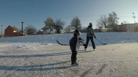 The joy of winter sports Footage