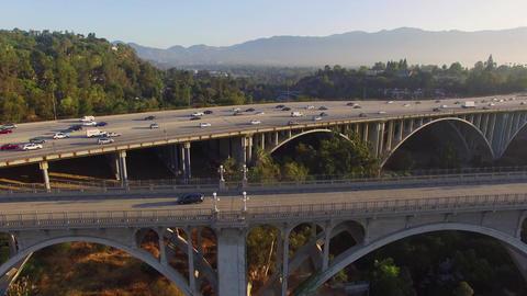 Aerial Freeway Bridge Image