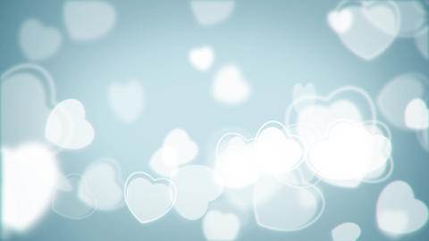 Flow white particles hearts shape animation Animation