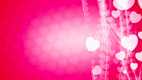Abstract vertical flow heart particles animation Animation