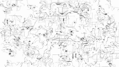 Hand drawn doodles abstract animated background Animation