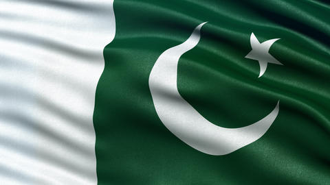 4K Pakistan flag seamless loop Ultra-HD Animation