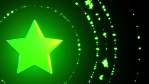 SHA Green Star BG Image Christmas Animation