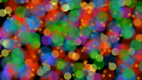 Slow moving colorful circle blurry particles like bacteria, computer animated vi Animación
