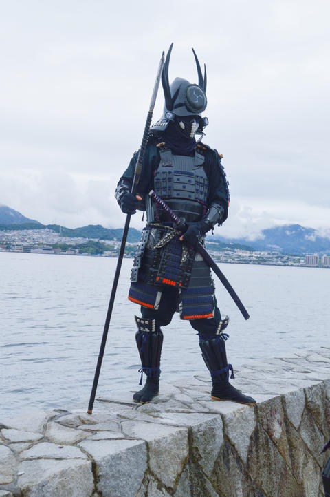 Samurai On Miyajima Island Japan Photo
