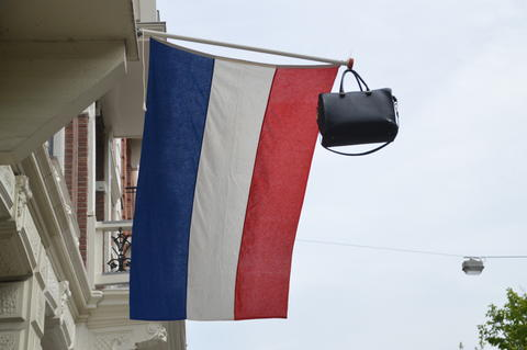 Schoolbag On Dutch Flag Photo