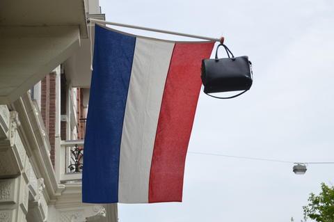 Schoolbag On Dutch Flag Fotografía