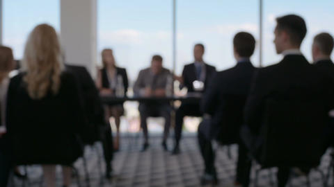 Business people at conference Footage