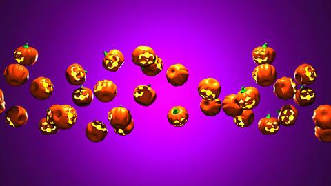 Jack O Lanterns On Purple Background Animation