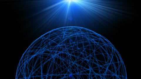 Network blue Animación