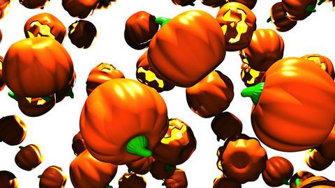 Jack-O-Lanterns On White Background Animation