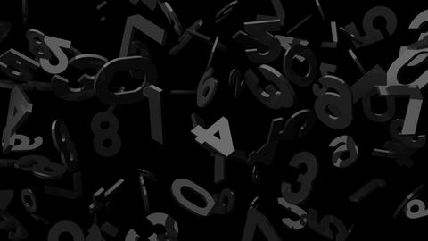 Black Numbers On Black Background CG動画