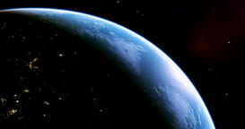 A stunning 4K view of planet earth from outer space, this is version 2, please s Footage