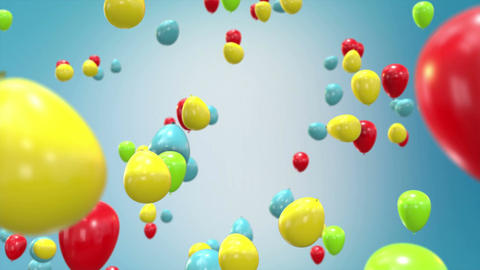 Flying Ballons Animation