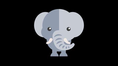 Animated Elephant Icon Videos animados