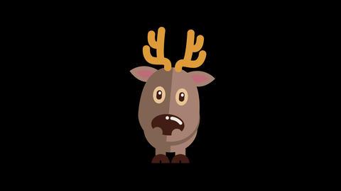 Animated Reindeer Icon Animation