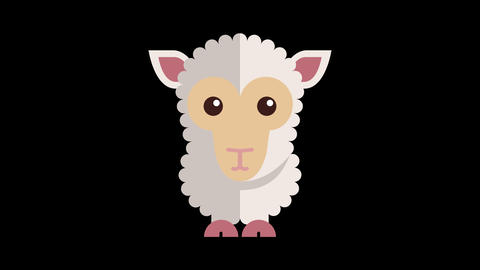 Animated Sheep Icon Image