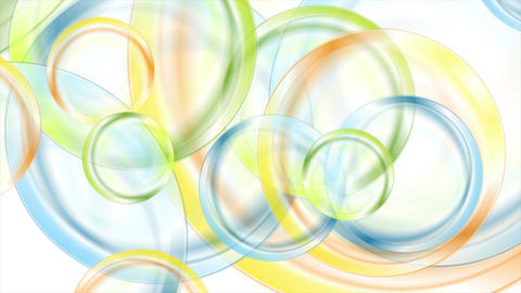 Abstract colorful glossy circles video animation Animation