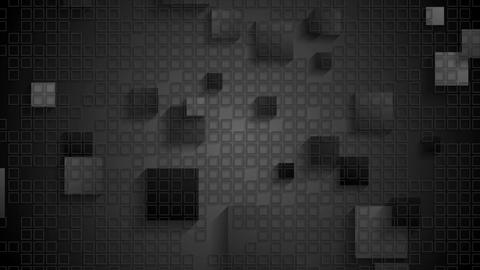 Black geometric checkered video animation with squares Animation