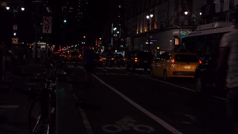 New York Night Street 영상물