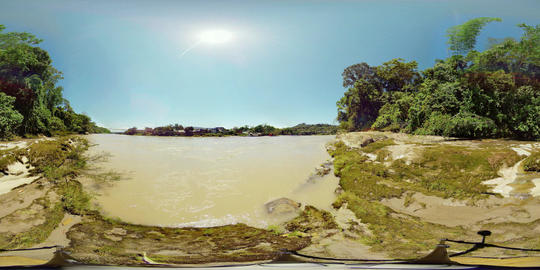 360Vr Puerto Misahualli Ecuador Napo River And Suspended Bridge 360 Vr Spherical Footage