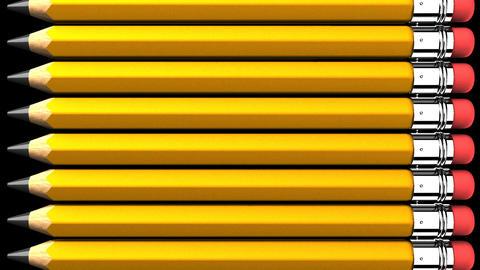 Pencils On Black Background CG動画