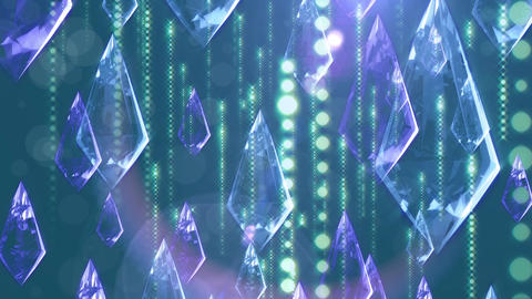 Crystal 009 Blue CG動画
