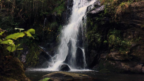 Beautiful waterfall in Cabreia Portugal Image