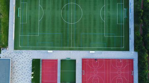 Sports area, various athletics fields ビデオ