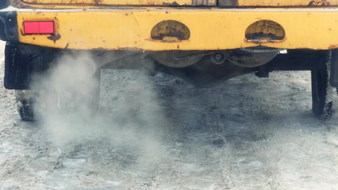 Exhaust gases from the muffler running car Footage