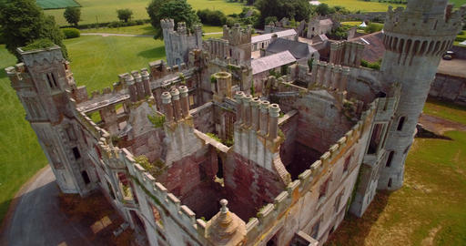 Aerial, Ducketts Grove And Gardens, County Carlow, Ireland Footage