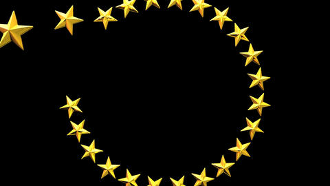 Stars For Title Frame On Black Background CG動画
