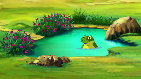 Frog in the small pond UHD Animation