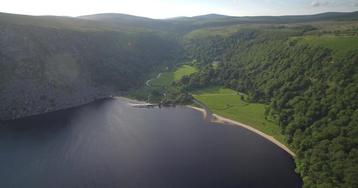 Aerial, Lough Tay Lake At Luggala, County Wicklow, Ireland Filmmaterial