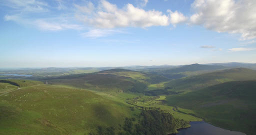 Aerial, Lough Tay Lake At Luggala, County Wicklow, Ireland Footage