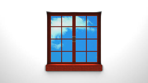 Wooden Window And Sky Animation