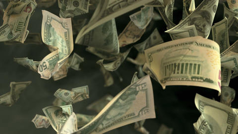 Falling Dollar money in 4K Loopable Animation