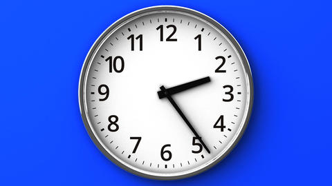 Clock On Blue Wall Animation